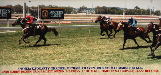 Model Bird winning at Toowoomba (Qld) 1988